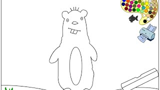 Beaver Coloring Pages For Kids - Beaver Coloring Pages