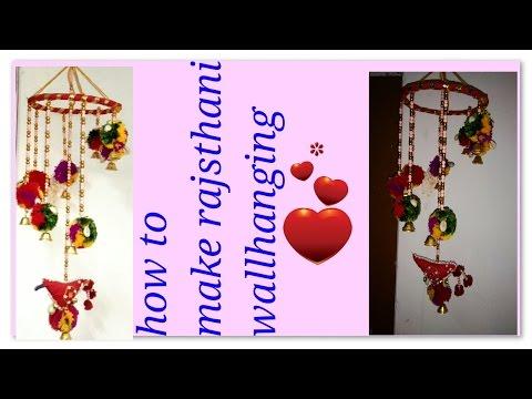 DIY Indian (rajasthani) wallhanging for home decoration folk art