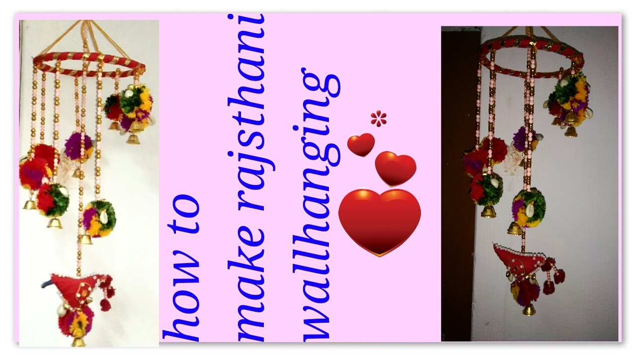 Diy Indian Rajasthani Wallhanging For Home Decoration Folk Art