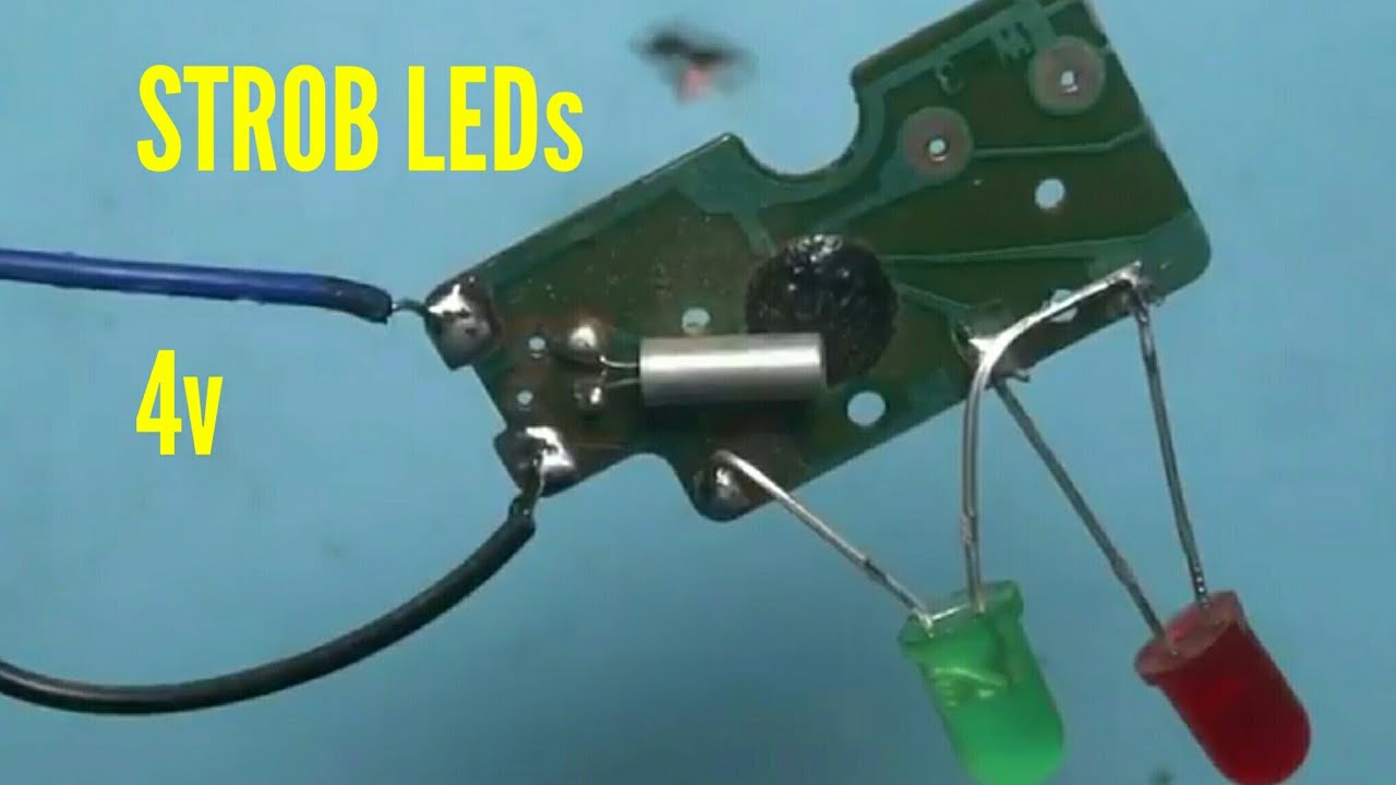 Strob Leds With Old Wall Clock Circuit Youtube Circuits Images
