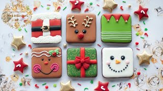 Simple & Easy CHRISTMAS COOKIE SQUARES  6 Simple Christmas Designs