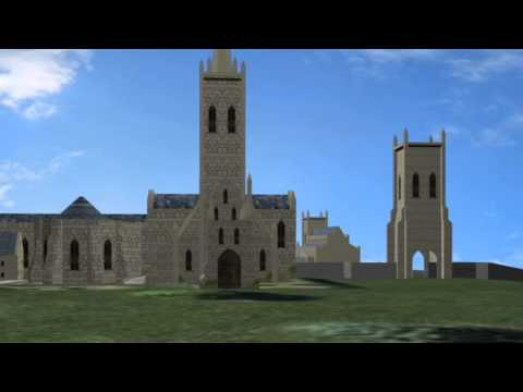 Evesham Abbey - Low Poly 3D Model for Augmented Reality Tour