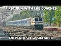 [IRFCA] First Run with LHB Coaches || 12029 Shatabdi Express || IRY-20 becomes History!!