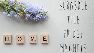 DIY Magnets !  How to Make Scrabble Fridge Magnets / Locker Magnets | Ali Coultas