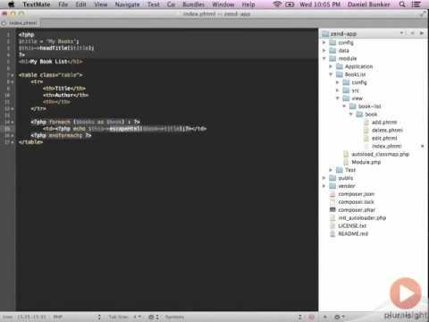 Zend Framework 2 -- 03 09 Demo Updating The Index View