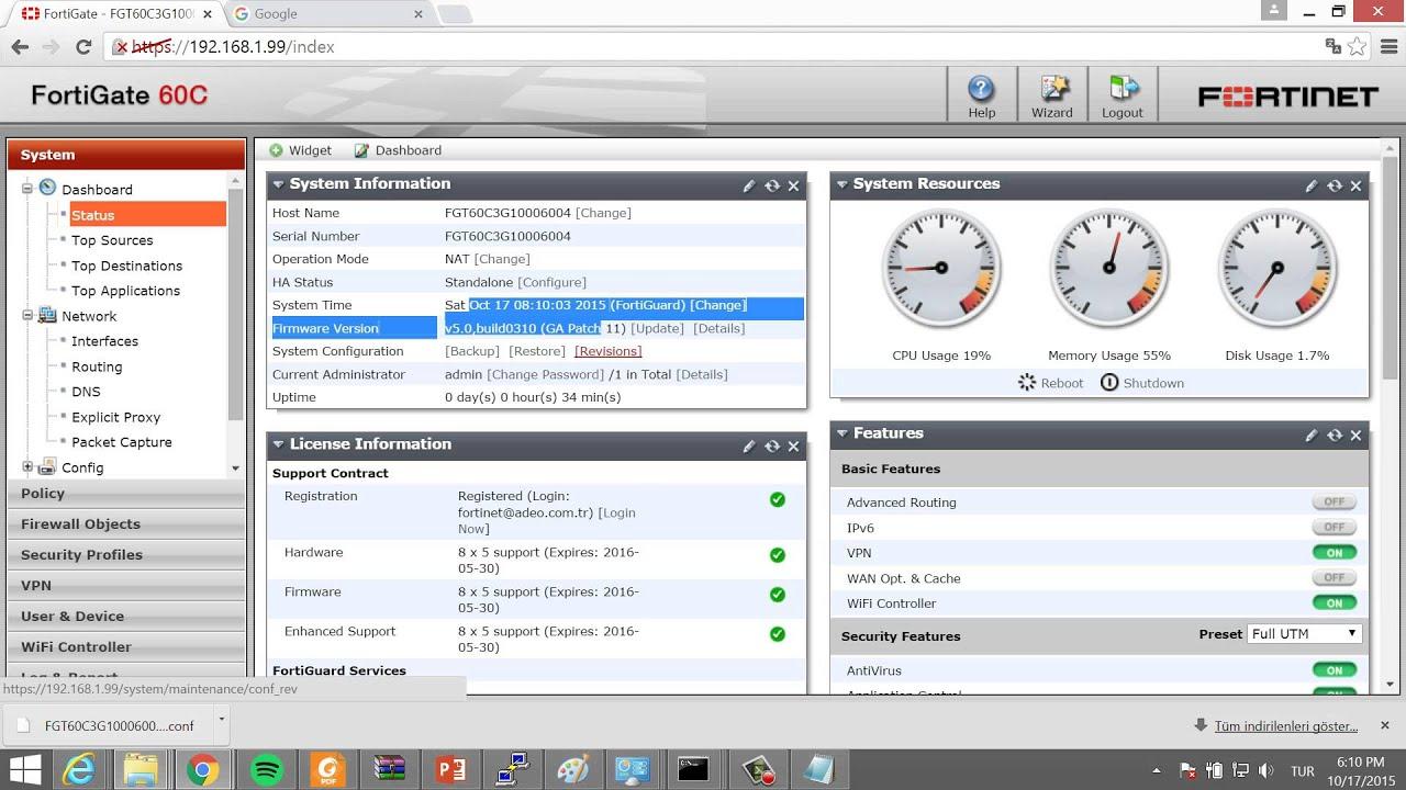 Fortigate firmware upgrade cli