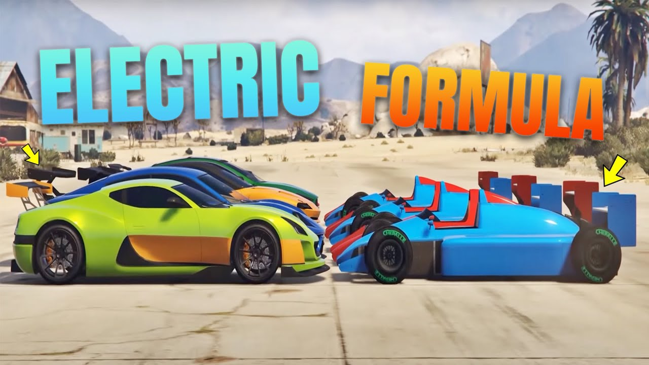 Gta 5 Online Electric Cars Vs Formula Which Is Fastest Youtube