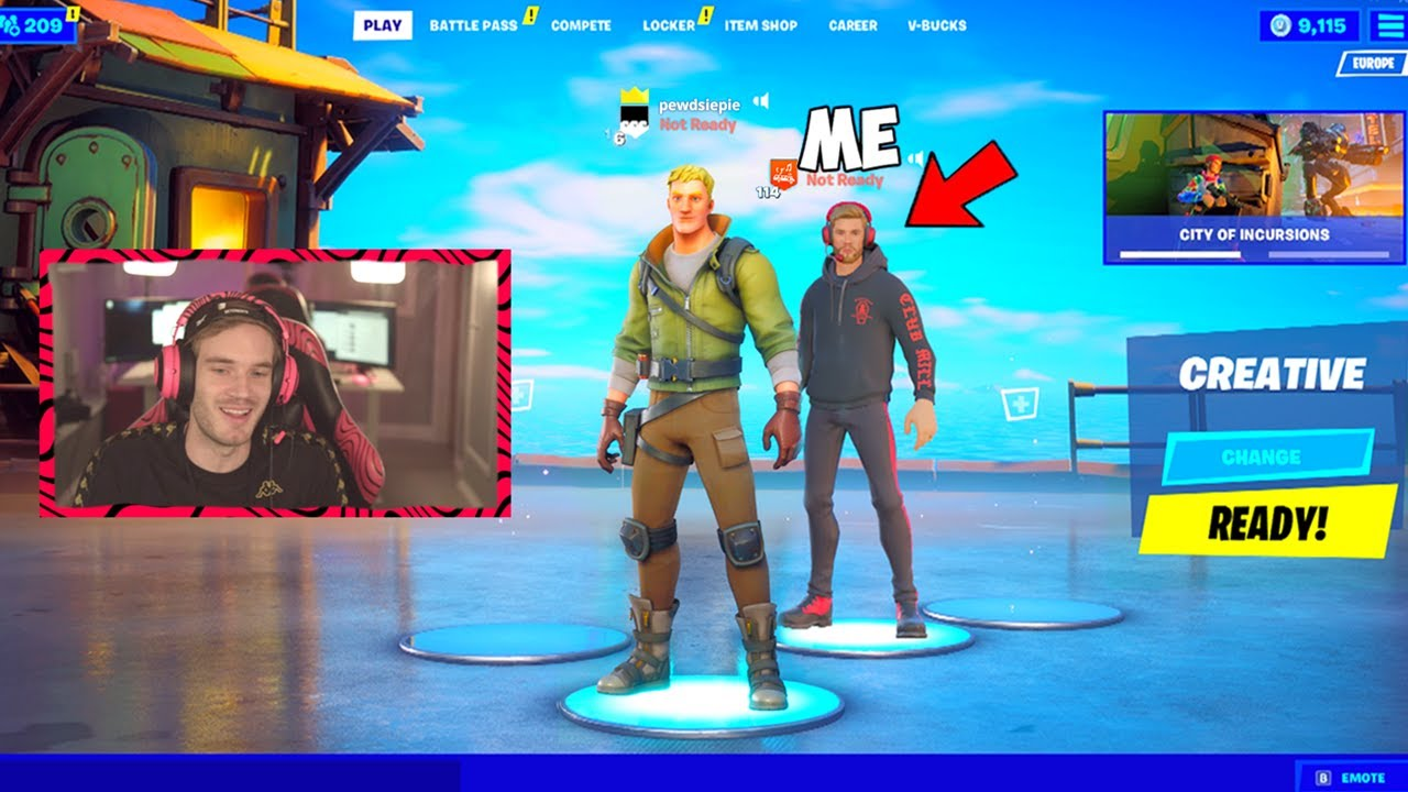 FAMOUS YOUTUBERS joined my Fortnite Lobby... THIS HAPPENED