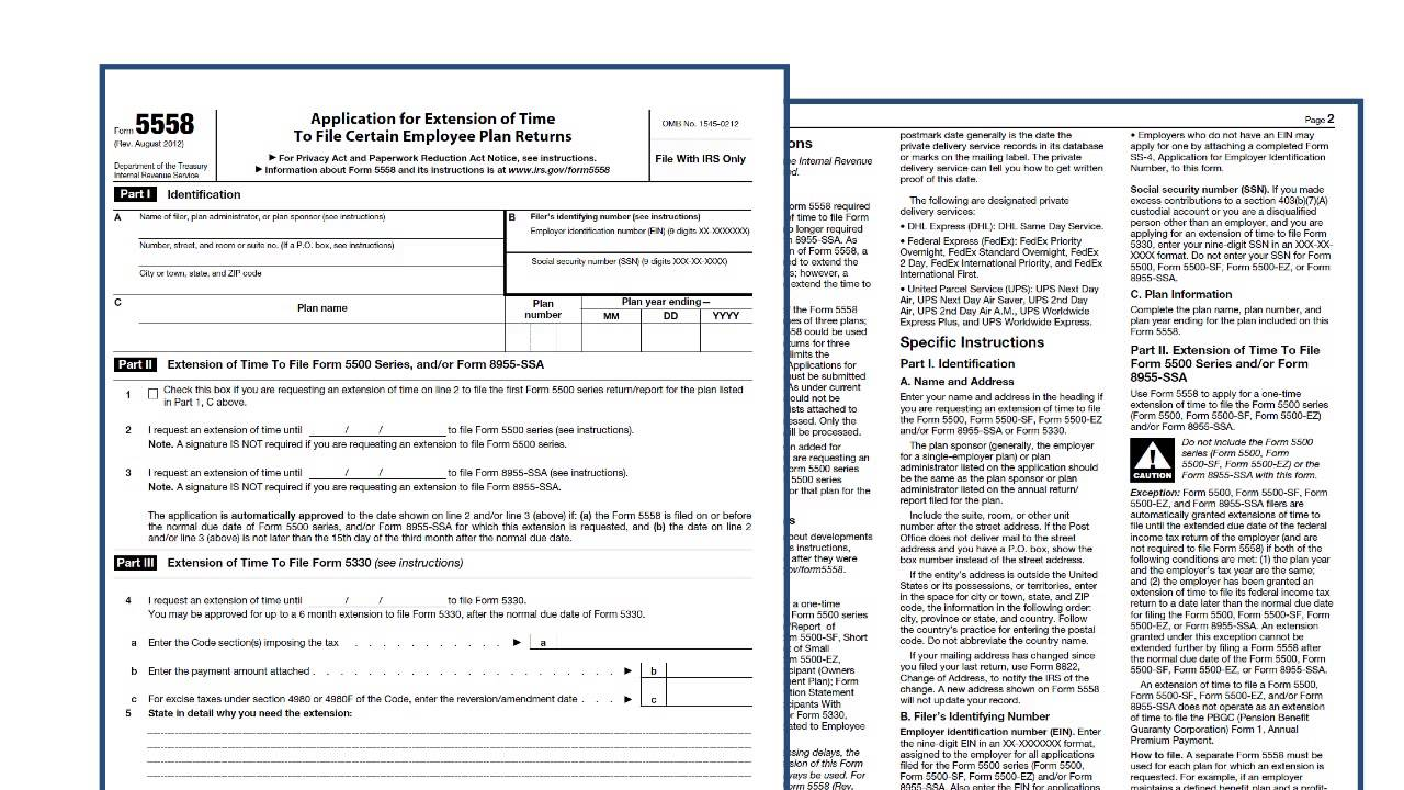 Annual Report of Employee Benefit Form 5500 Is Due on July 31st ...