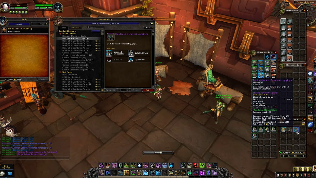 WoW BFA Leatherworking - How to get the 370 ilvl & 385 ilvl Epic Patterns