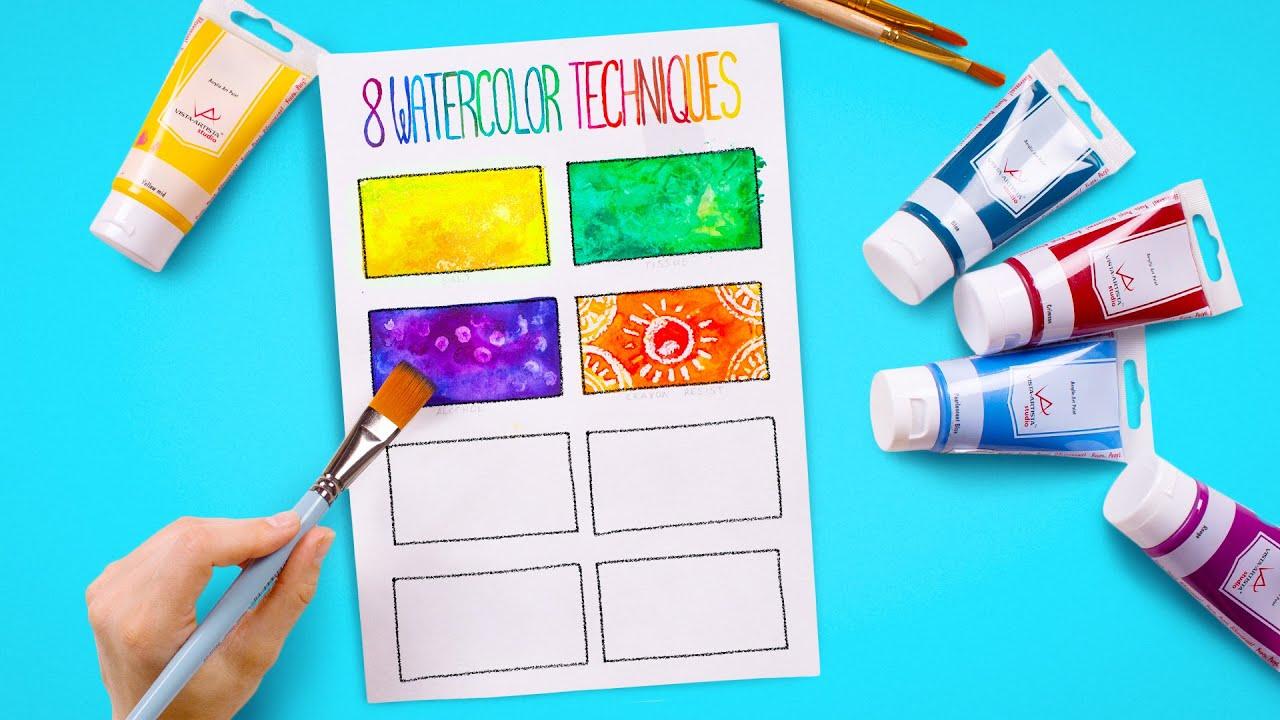 CÁCH TÔ MÀU Như Nghệ Sĩ Thực Thụ – 8 Kỹ Thuật Tô Màu Nước Đơn Giản
