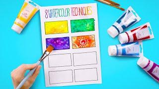CÁCH TÔ MÀU Như Nghệ Sĩ Thực Thụ - 8 Kỹ Thuật Tô Màu Nước Đơn Giản