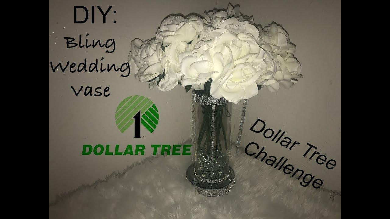 Diy bling wedding vase dollar tree challenge youtube diy bling wedding vase dollar tree challenge reviewsmspy