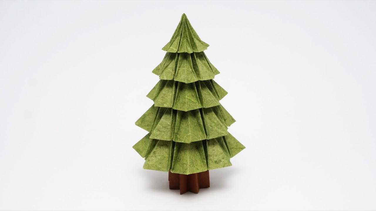 Origami Step by Step Instructions of a Christmas Tree | Free ... | 720x1280