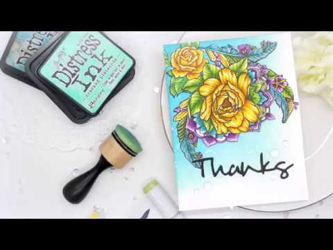 Feathers & Florals with Spellbinders: Reconstructing A Card