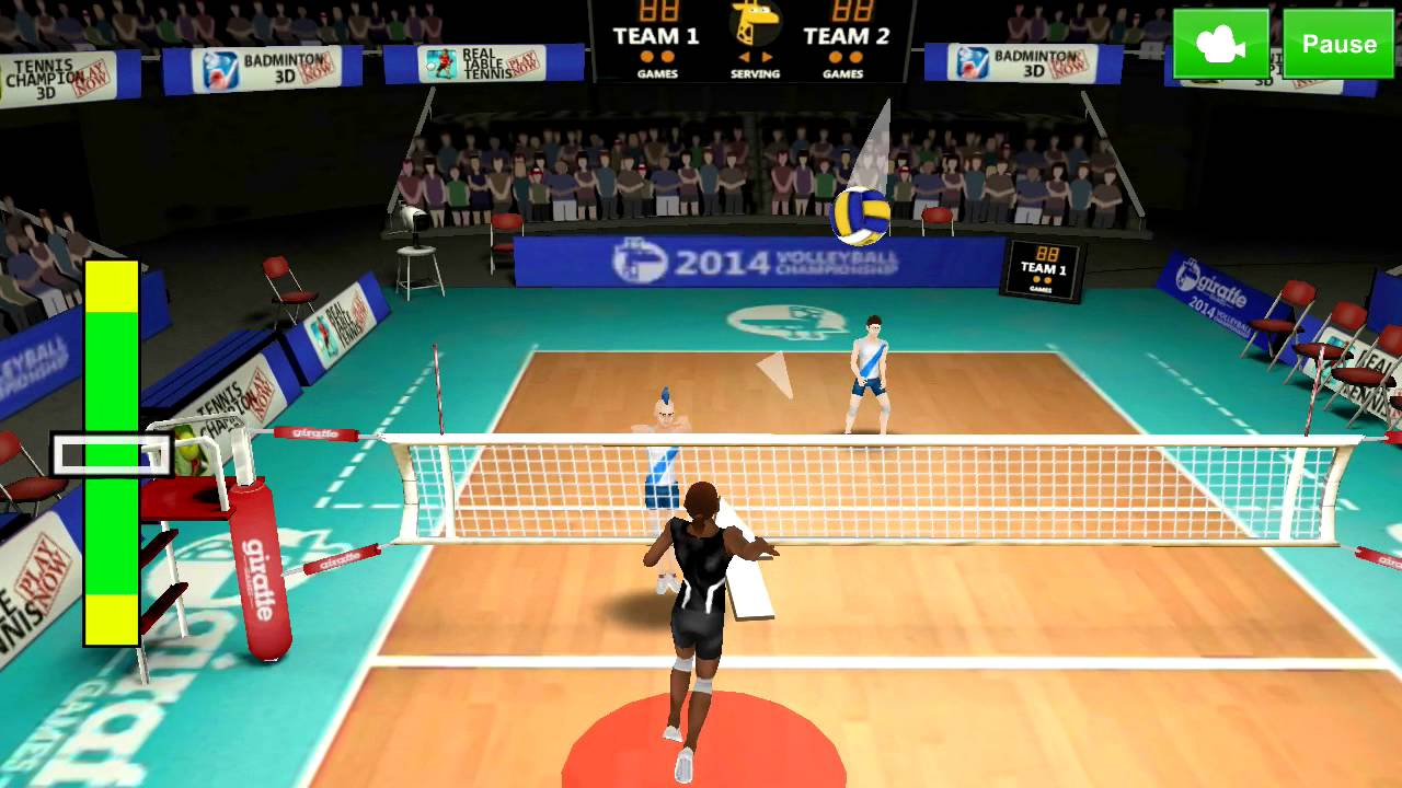 Volleyball Champions 3d 2014 Android Gameplay Youtube