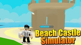 Sono BUILDING MY CASTLE di SAND! 😱😍 Roblox Beach Castle Simulator