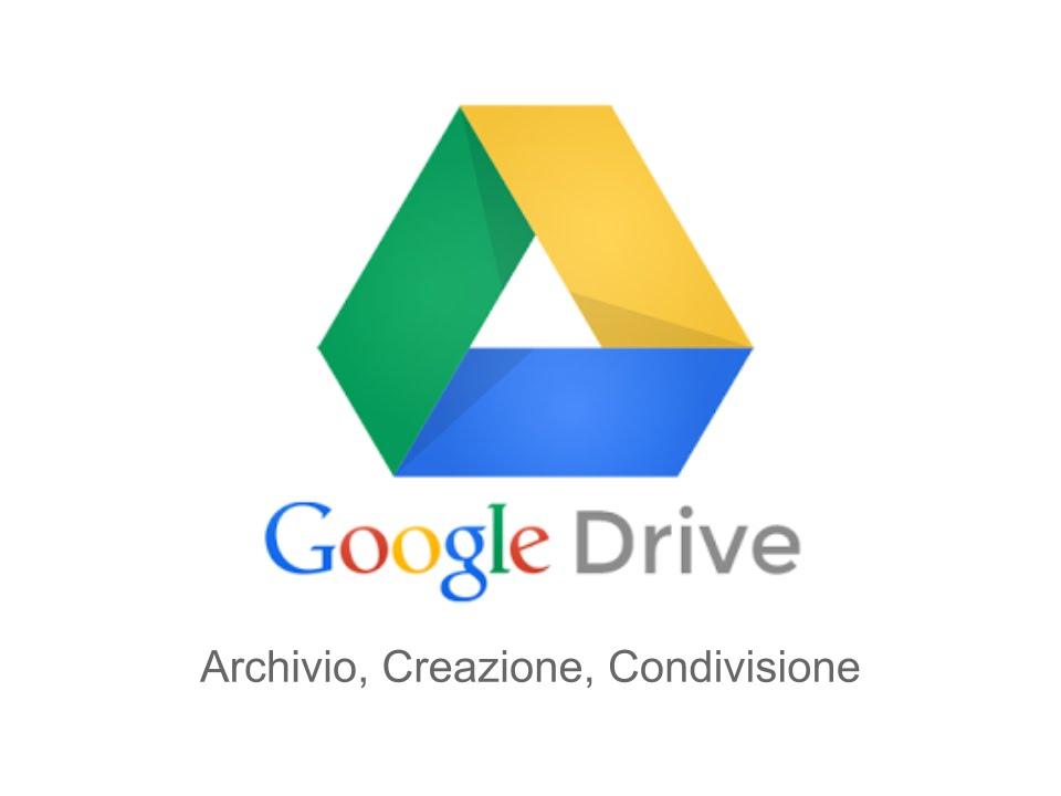Google Drive - Archivio, Creazione, Condivisione - YouTube