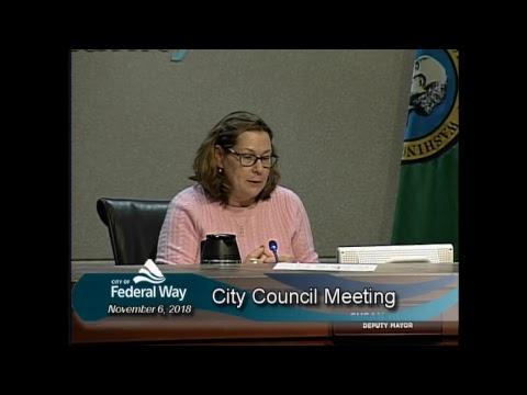 11/06/2018 Federal Way City Council - Regular Meeting
