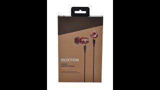 Unboxing [#3] Nové sluchátka [BUXTON GOLD EARPHONES]