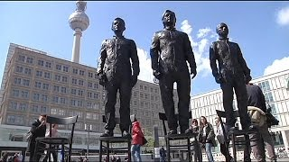 Snowden, Assange and Manning statues