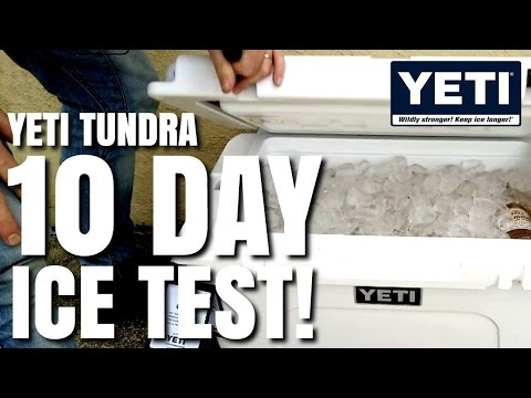 Yeti Cooler 10 Day Ice Test Challenge - Tundra 45 Model