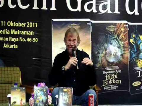 Jostein Gaarder at Gramedia Bookstore Jakarta