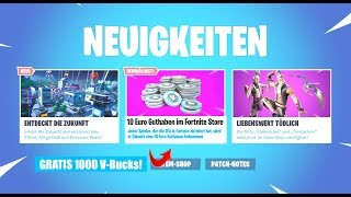 *KRASS* Fortnite gives us 10€ credit (V-Bucks) SO you get them!!