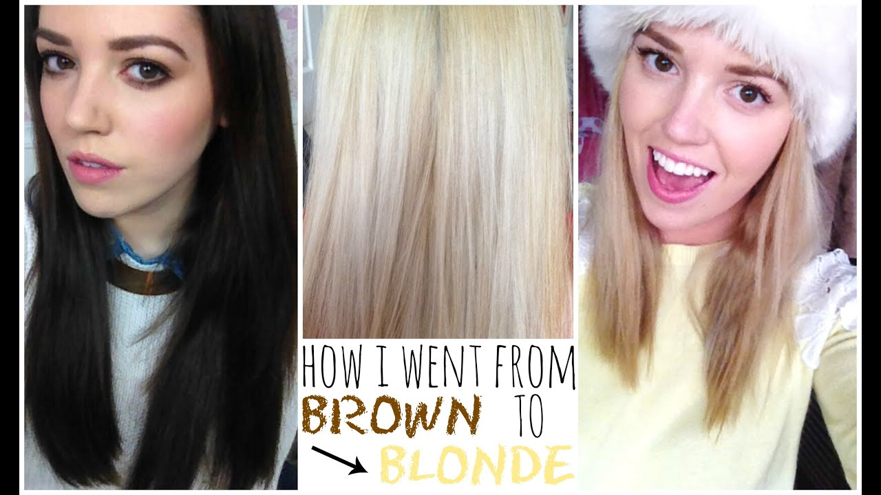 How I Went From Brown To Blonde! | velvetgh0st ♡ - YouTube