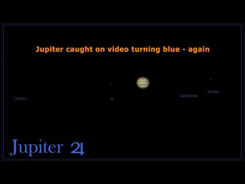 Jupiter Filmed Turning Blue - Again