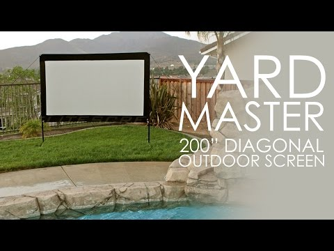 "Elite Screens Yard Master (200"") Outdoor projection screen"