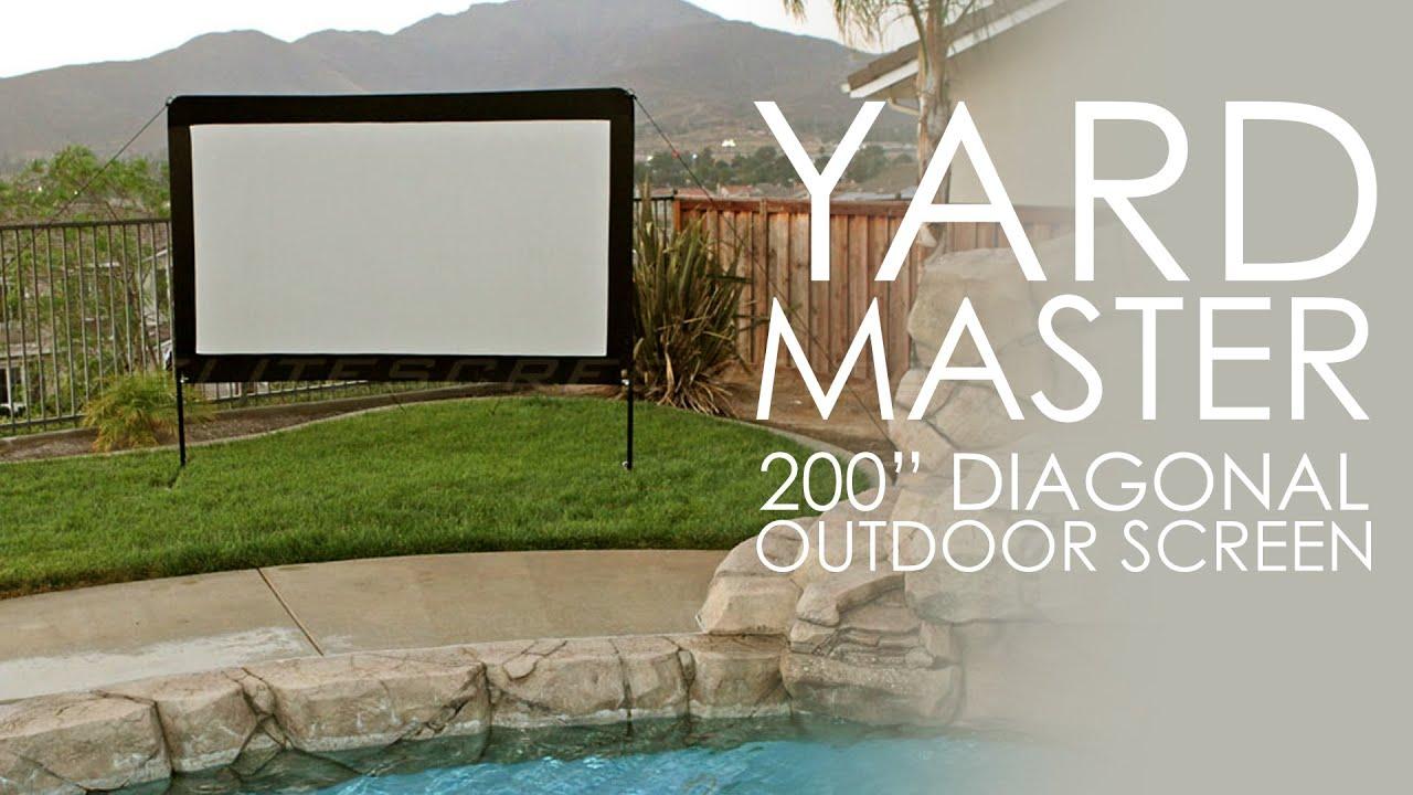 Elite Screens Yard Master 200 Outdoor Projection Screen