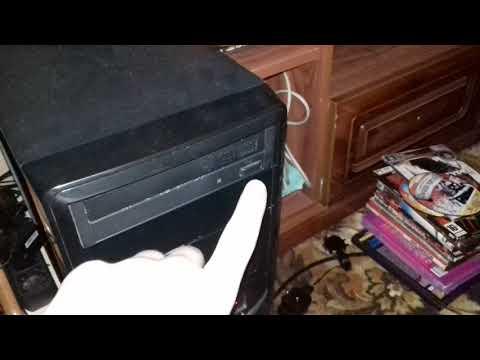 Как открыть дисковод на компе без кнопки
