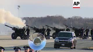 Pres. George HW Bush's casket lands in Maryland