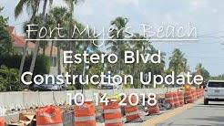 Fort Myers Beach Estero Blvd Road Construction 10-14-18