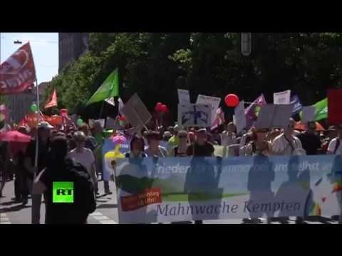 Grande manifestation avant le début du G7 à Munich