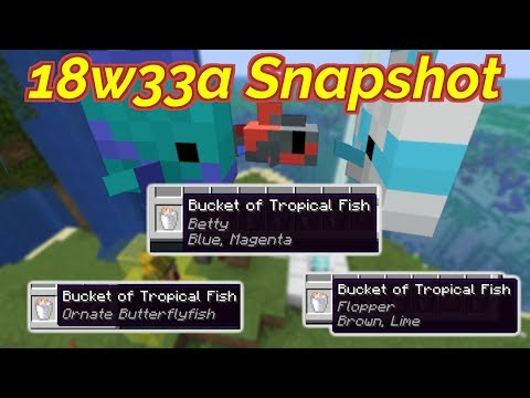 18w33a Snapshot- New Fish Names, Better Water And Buggy Mobs!