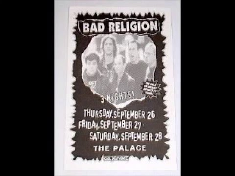 Bad Religion - Live @ The Palace, Los Angeles, CA, 9/27/96 [JAPANESE FM BROADCAST]