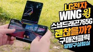 LG 윙 WING 스마트폰 스냅드래곤765G 괜찮을까?…