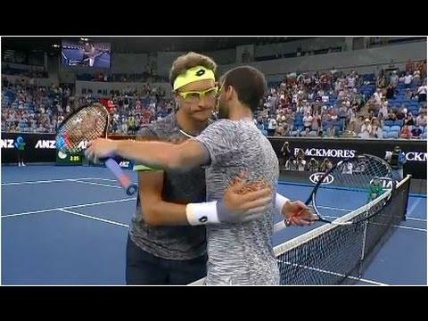 Grigor Dimitrov vs. Denis Istomin 2-6, 7-6(2), 6-2, 6-1 Australian Open (R16) 23.01.2017.