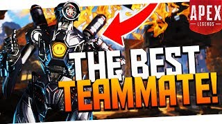 CARRIED By the GREATEST Random Teammate EVER! - PS4 Apex Legends
