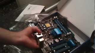 unboxing Asus P5G41T-M LX HD