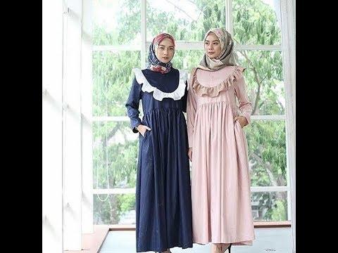 Trend Model Baju Gamis Casual Terbaru 2018 Youtube