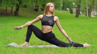 Растяжка в парке (STRETCHING, стретчинг, йога, гибкость) Воронеж