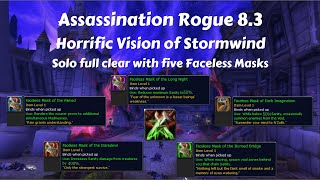 Assassination Rogue Guide 8.3 - Horrific Vision solo full clear - Five Faceless Mask !