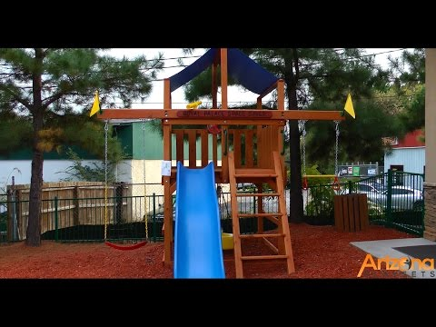 Playnation Royal Palace Space Saver Swing Set Review from Arizona Playsets