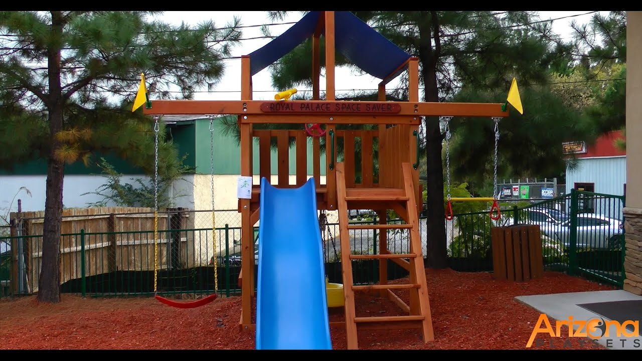 Playnation Royal Palace Space Saver Swing Set Review from Arizona
