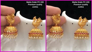Matte finish chandbali earrings and jhumkas Buy Online