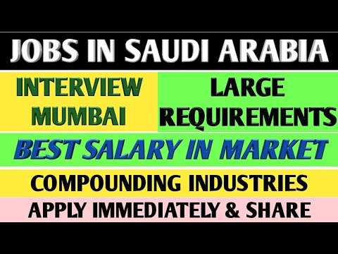 90. LARGE JOB REQUIREMENT IN SAUDI ARABIA FOR COMPOUNDING INDUSTRIES.