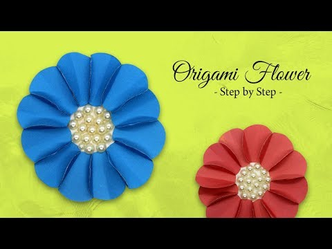 How to Make Easy Paper Flower | Origami For Beginners | DIY-Paper Crafts Step by Step